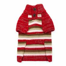 Marl Stripes Dog Sweater by Dogo - Red