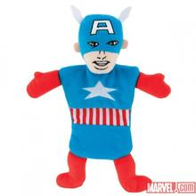 Marvel Flat Crinkle Dog Toy - Captain America