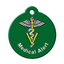 Medical Alert QR Code Pet ID Tag by BarkCode - Green