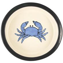 Melia Crab Ceramic Pet Bowl - Light Blue