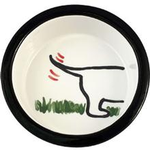 Melia Dog's Bottom Ceramic Dog Bowl