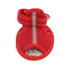 Mesh Dog Sandals - Red