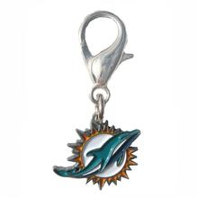 Miami Dolphins Logo Dog Collar Charm