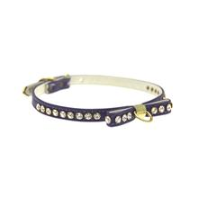 Mirage Crystal Lined Bow Dog Collar - Purple
