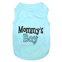 Mommy's Boy Dog Tank by Parisian Pet - Blue