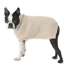 Morgan's Fisherman Dog Sweater - Cream