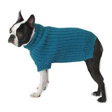Morgan's Fisherman Dog Sweater - Teal