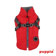 Mountaineer Dog Coat by Puppia - Red