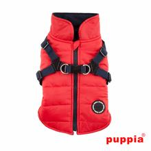 Mountaineer Harness Dog Coat by Puppia - Red