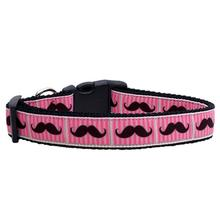Moustache Dog Collar - Pink
