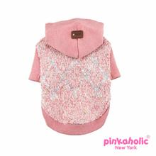 Muffy Knit Dog Hoodie by Pinkaholic - Pink