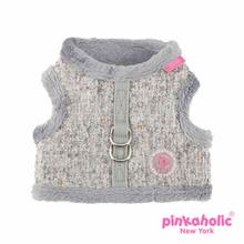 Muffy Pinka Dog Harness by Pinkaholic - Melange Gray