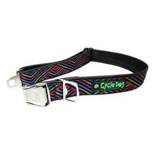 Multi Black Diagonals Metal Latch Dog Collar by Cycle Dog