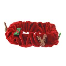 My Canine Kids Reindeer Plaid Dog Scrunchy