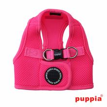 Neon Mesh Soft Dog Harness Vest by Puppia - Pink