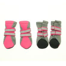 Neon Neoprene Dog Boots - Pink