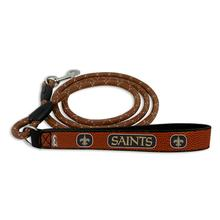 New Orleans Saints Frozen Rope Leather Dog Leash