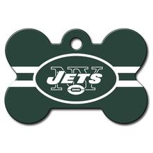 New York Jets Engravable Pet I.D. Tag - Bone