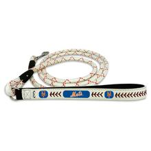 New York Mets Frozen Rope Leather Dog Leash