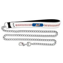 New York Mets Leather Dog Leash