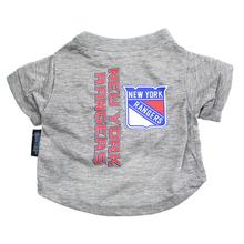 New York Rangers Dog T-Shirt - Gray