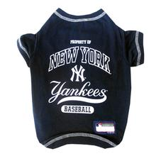 New York Yankees Dog T-Shirt - Navy Blue