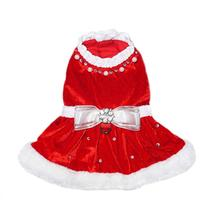 Noella Santa Dog Dress - Red