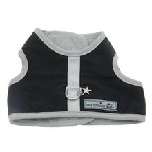Nylon-Fleece Dog Vest Harness - Black