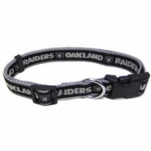 Oakland Raiders Officially Licensed Dog Collar - Silver Trim