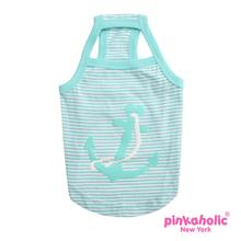 Oceanic Anchor Dog Tank by Pinkaholic - Aqua