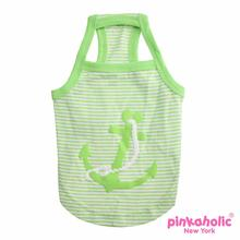 Oceanic Anchor Dog Tank by Pinkaholic - Green