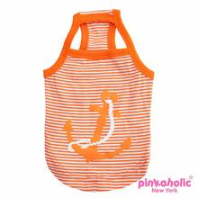 Oceanic Anchor Dog Tank by Pinkaholic - Orange