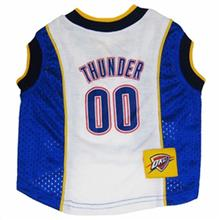 Oklahoma City Thunder Dog Jersey - Blue Mesh with White