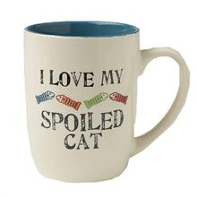 One Spoiled Cat Lives Here Mug