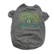 Oregon Ducks Dog T-Shirt - Grey