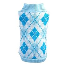 Parisian Argyle Dog Sweater in Blue
