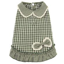 Parisian Gingham Dog Dress - Green