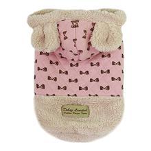 Parisian Pet Bowtie Dog Hoodie - Pink