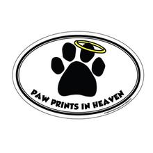 Paw Prints in Heaven Oval Magnet