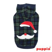 Pere Noel Hooded Dog Shirt by Puppia - Green