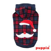 Pere Noel Hooded Dog Shirt by Puppia - Wine