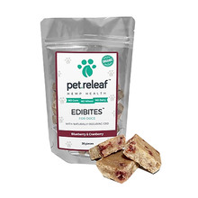 Pet Releaf Edibites Dog Treats - Blueberry & Cranberry