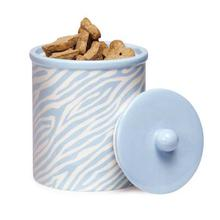 Pet Studio Sweet Safari Pet Treat Canister - Powder Blue