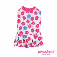 Petunias Dog Dress by Pinkaholic - Dark Pink