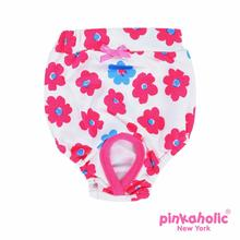 Petunias Dog Sanitary Pants by Pinkaholic - Dark Pink
