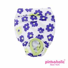 Petunias Dog Sanitary Pants by Pinkaholic - Lime