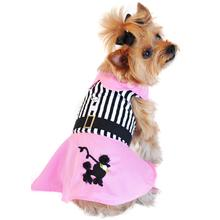 Pink Poodle Designer Dog Harness Dress