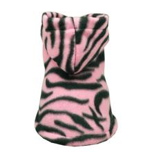 Pink Tigress Polar Fleece Dog Hoodie by Hip Doggie