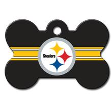 Pittsburgh Steelers Engravable Pet I.D. Tag - Bone