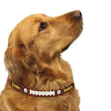 Pittsburgh Steelers Leather Dog Collar